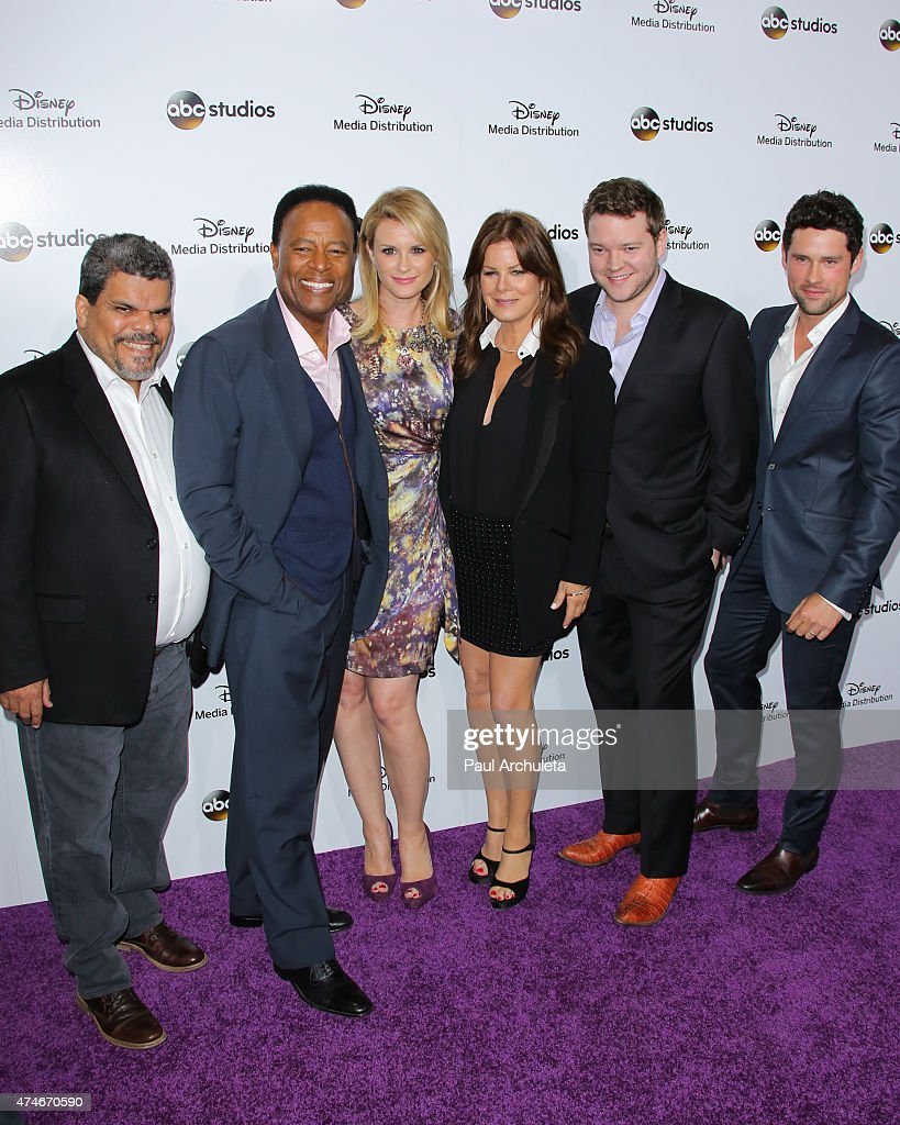 Actors Luis Guzman William Allen Young Bonnie Somerville Marcia Gay Harden Harry Ford and Ben Hollingsworth attend the Disney Media Distribution...