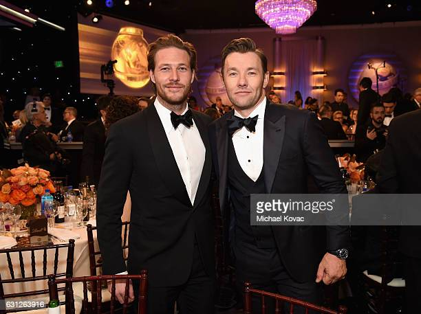 Actors Luke Bracey and Joel Edgerton attend the 74th Annual Golden Globe Awards at The Beverly Hilton Hotel on January 8 2017 in Beverly Hills...