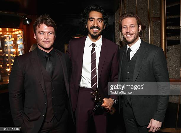 Actors Luke Hemsworth Dev Patel and Luke Bracey attend The 6th AACTA International Awards on January 6 2017 in Los Angeles California