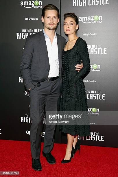 Actors Luke Kleintank and Alexa Davalos attend the episode screening and premiere for the Amazon Originals Series 'The Man In The High Castle' at...