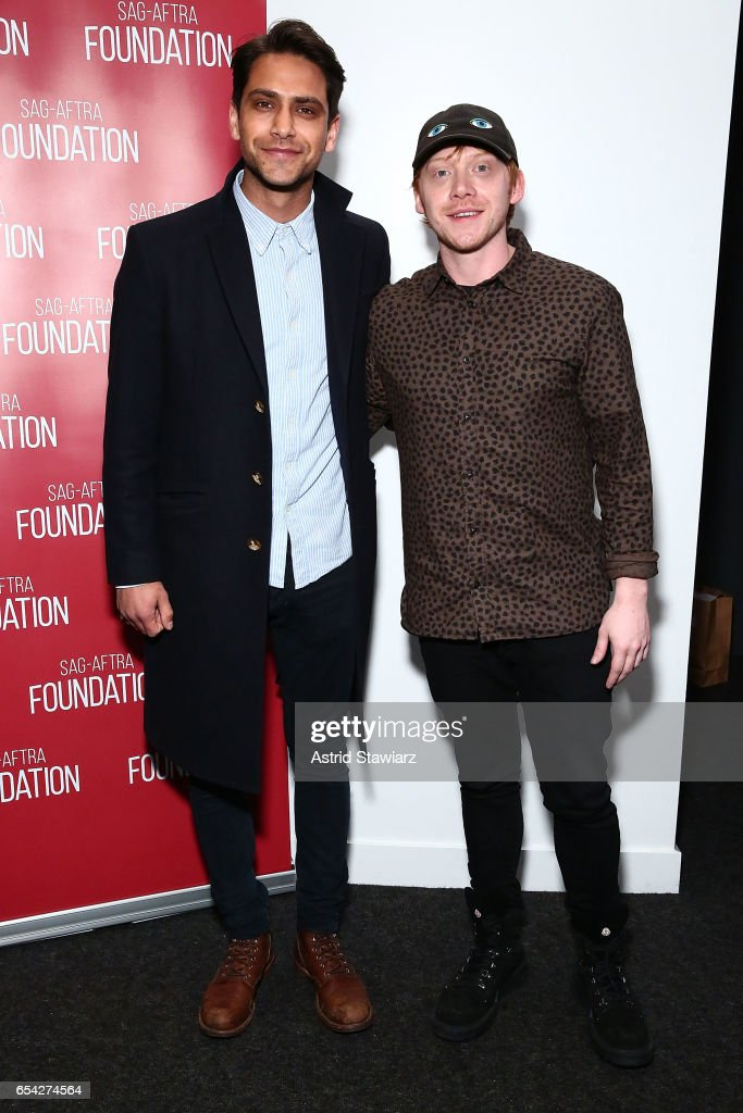Actors Luke Pasqualino and Rupert Grint attend the SAG-AFTRA foundation conversation for 'Snatch' at the Robin Williams Center on March 16, 2017 in New York City.