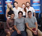 Actors Luke Perry Madelaine Petsch Cole Sprouse and Lili Reinhart and writer Roberto AguirreSacasa attend SiriusXM's Entertainment Weekly Radio...