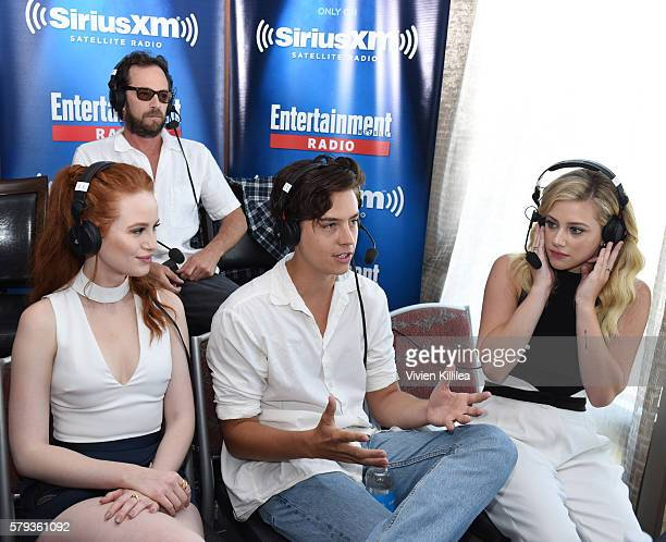 Actors Luke Perry Madelaine Petsch Cole Sprouse and Lili Reinhart attend SiriusXM's Entertainment Weekly Radio Channel Broadcasts From ComicCon 2016...