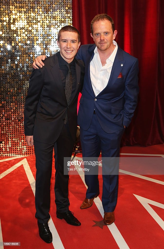 Actors Luke Roskell and Liam Fox attend the British Soap Awards at Media City on May 18, 2013 in Manchester, England.