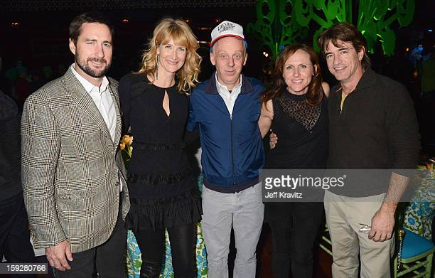 Actors Luke Wilson Laura Dern director Mike White actors Molly Shannon and Dermot Mulroney attend the 'Enlightened' Season 2 Premiere After Party...