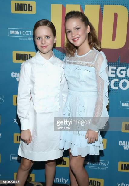 Actors Lulu Wilson and Talitha Bateman at the #IMDboat At San Diego ComicCon 2017 on the IMDb Yacht on July 20 2017 in San Diego California