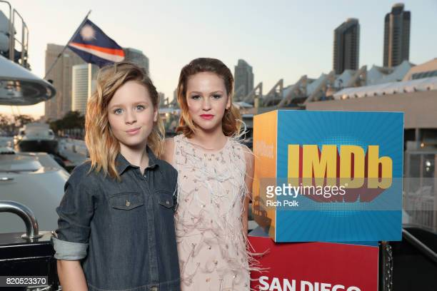 Actors Lulu Wilson and Talitha Bateman attend the #IMDboat Party at San Diego ComicCon 2017 Presented By XFINITY on The IMDb Yacht on July 21 2017 in...