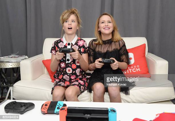 Actors Lulu Wilson and Talitha Bateman from the movie 'Annabelle Creations' stopped by Nintendo at the TV Insider Lounge to check out Nintendo Switch...