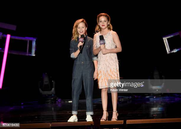 Actors Lulu Wilson and Talitha Bateman speak onstage during MTV Fandom Fest at PETCO Park on July 21 2017 in San Diego California