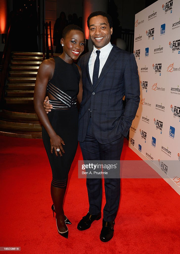 Actors <a gi-track='captionPersonalityLinkClicked' href=/galleries/search?phrase=Lupita+Nyong%27o&family=editorial&specificpeople=10961876 ng-click='$event.stopPropagation()'>Lupita Nyong'o</a> and <a gi-track='captionPersonalityLinkClicked' href=/galleries/search?phrase=Chiwetel+Ejiofor&family=editorial&specificpeople=213998 ng-click='$event.stopPropagation()'>Chiwetel Ejiofor</a> attend the Accenture Gala ahead of the premiere of 'Twelve Years A Slave' during the 57th BFI London Film Festival at the Langham Hotel on October 18, 2013 in London, England.