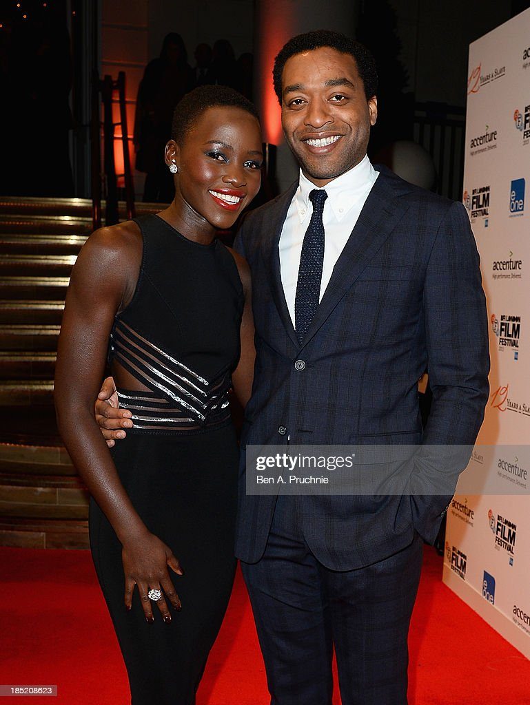 Actors Lupita Nyong'o and Chiwetel Ejiofor attend the Accenture Gala ahead of the premiere of 'Twelve Years A Slave' during the 57th BFI London Film Festival at the Langham Hotel on October 18, 2013 in London, England.