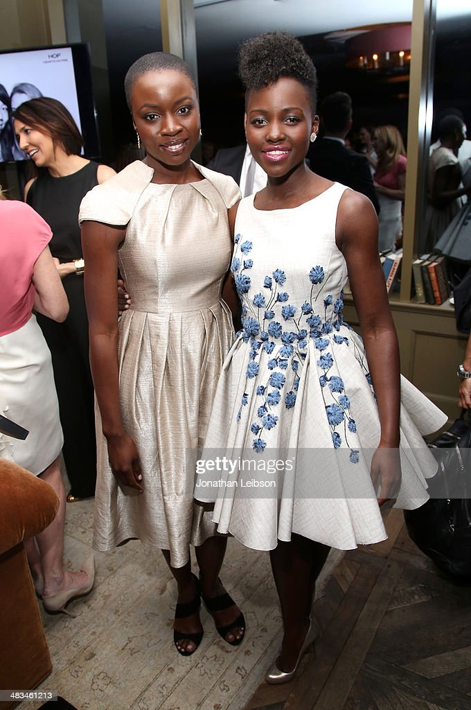 Actors <a gi-track='captionPersonalityLinkClicked' href=/galleries/search?phrase=Lupita+Nyong%27o&family=editorial&specificpeople=10961876 ng-click='$event.stopPropagation()'>Lupita Nyong'o</a> (R) and <a gi-track='captionPersonalityLinkClicked' href=/galleries/search?phrase=Danai+Gurira&family=editorial&specificpeople=4488413 ng-click='$event.stopPropagation()'>Danai Gurira</a> attend Marie Claire Celebrates May Cover Stars on April 8, 2014 in West Hollywood, California.