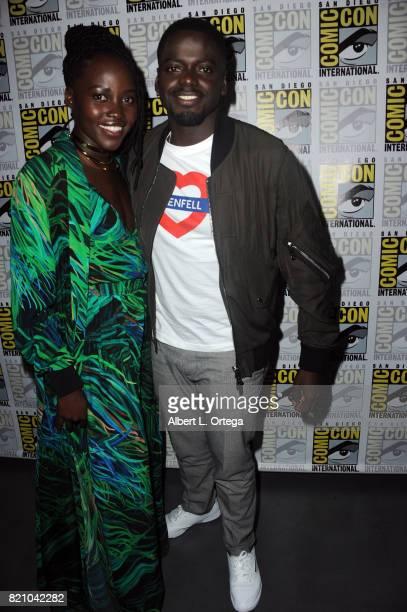 Actors Lupita Nyong'o and Daniel Kaluuya at ComicCon International 2017 Marvel Studios 'Black Panther' Presentation at San Diego Convention Center on...