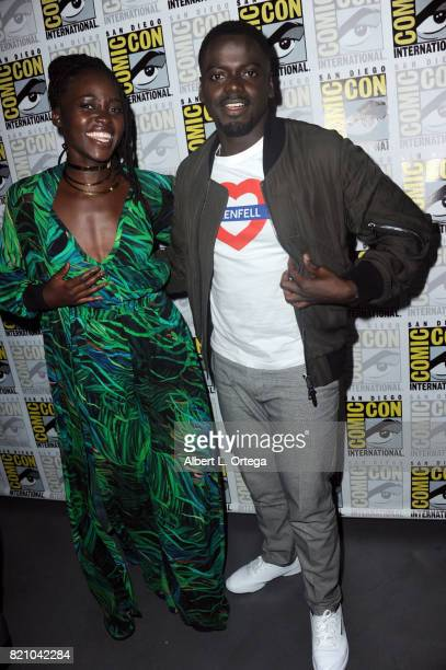 Actors Lupita Nyong'o and Daniel Kaluuya at ComicCon International 2017 Marvel Studios 'Black Panther' Presentation at San Diego Convention Center on...