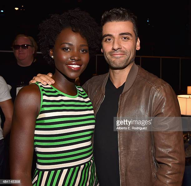 Actors Lupita Nyong'o and Oscar Isaac of STAR WARS THE FORCE AWAKENS took part today in 'Worlds Galaxies and Universes Live Action at The Walt Disney...