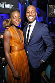 Actors Lupita Nyong'o and Tyrese Gibson attend the 45th NAACP Image Awards presented by TV One at Pasadena Civic Auditorium on February 22 2014 in...