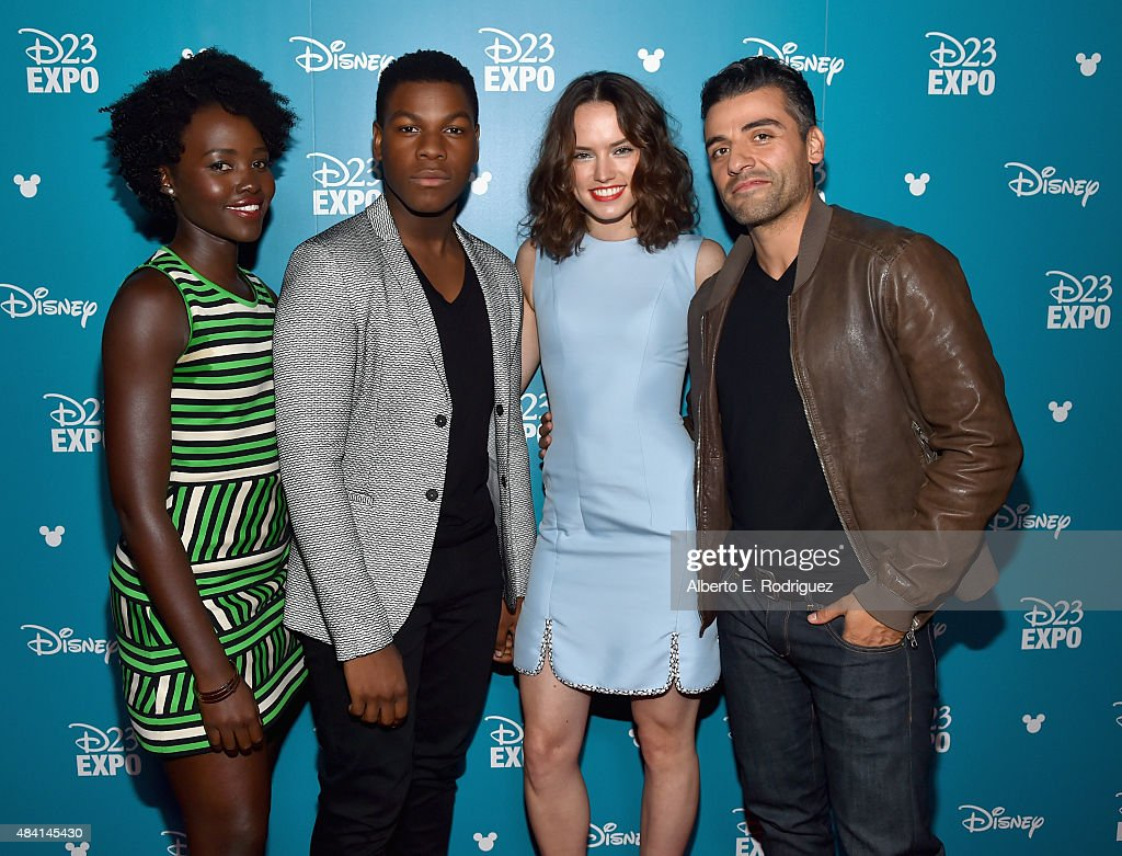 Actors Lupita Nyong'o, John Boyega, Daisy Ridley and Oscar Isaac of