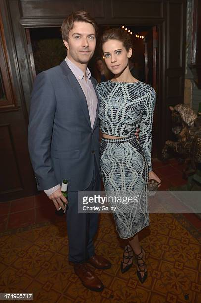 Actors Lyndsy Fonseca and Noah Bean attends Vanity Fair and FIAT celebration of 'Young Hollywood' during Vanity Fair Campaign Hollywood at No Vacancy...