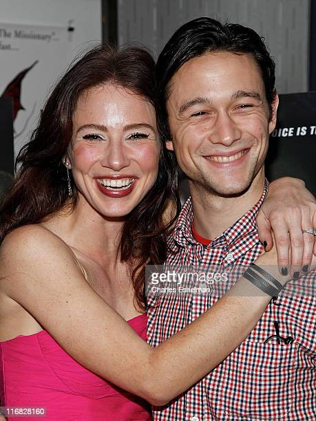 Actors Lynn Collins and Joseph GordonLevitt attend the 'Uncertainty' premiere at the IFC Center on the November 13 2009 in New York City