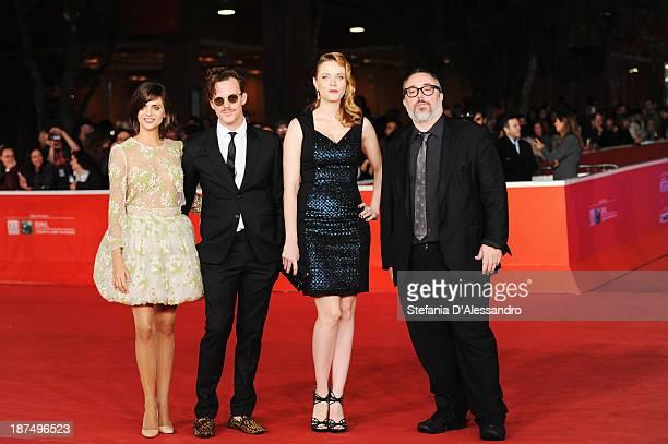 Actors Macarena GomezAldo Comas Carolina Bang with director Alex De La Iglesia attends 'Las Brujas De Zugarramurdi' Premiere And 'Lue' Premiere And...