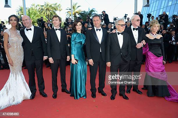 Actors Madalina Ghenea Alex Macqueen Paul Dano and Rachel Weisz director Paolo Sorrentino and actors Harvey Keitel Michael Caine and Jane Fonda...