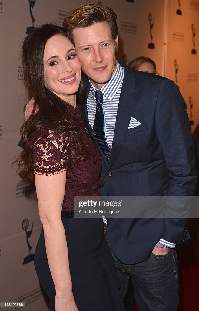 Actors Madeleine Stowe and Gabriel Mann arrive to the Academy of Television Arts and Sciences' An Evening with 'Revenge' at Leonard H. Goldenson Theatre on March 4, 2013 in North Hollywood, California.
