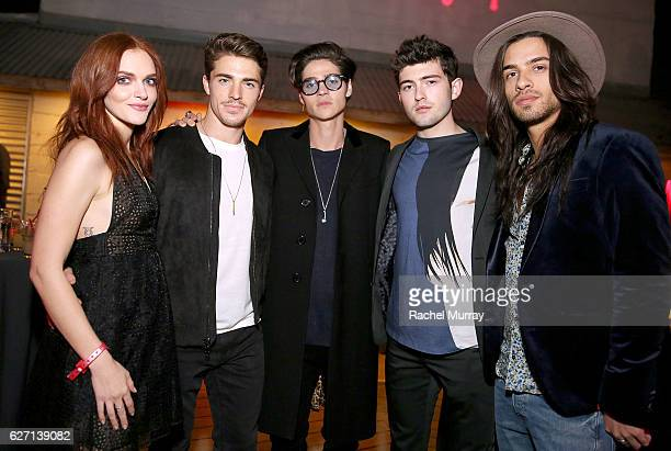 Actors Madeline Brewer Spencer Neville Will Peltz Ian Nelson and Todd Maurer attend the Fullscreen Original 'The Deleted' premiere party on December...