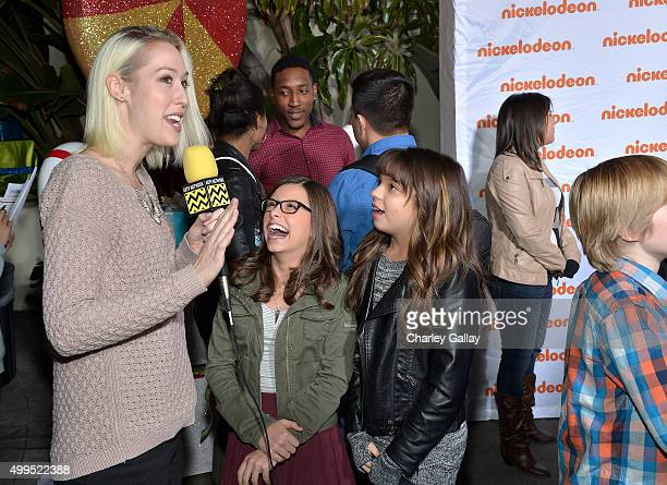 Actors Madison Shipman and Cree Cicchoni attend a screening of Nickelodeon's Ho Ho Holiday Special at Paramount Studios on December 1 2015 in...