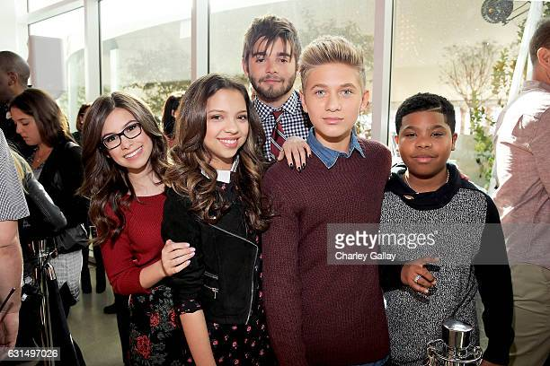 Actors Madisyn Shipman and Cree Cicchino from Game Shakers Jack Griffo from The Thundermans and Thomas Kuc and Benjamin Flores Jr from Game Shakers...