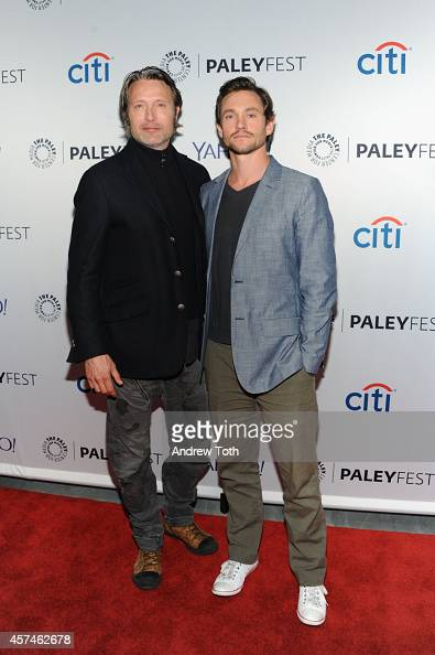 Actors Mads Mikkelsen and Hugh Dancy attend the 2nd annual Paleyfest New York presents 'Hannibal' at Paley Center For Media on October 18 2014 in New...