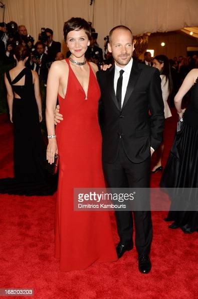 Actors Maggie Gyllenhaal and Peter Sarsgaard attend the Costume Institute Gala for the 'PUNK Chaos to Couture' exhibition at the Metropolitan Museum...