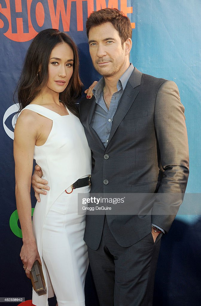 Actors <a gi-track='captionPersonalityLinkClicked' href=/galleries/search?phrase=Maggie+Q&family=editorial&specificpeople=555127 ng-click='$event.stopPropagation()'>Maggie Q</a> and <a gi-track='captionPersonalityLinkClicked' href=/galleries/search?phrase=Dylan+McDermott&family=editorial&specificpeople=211496 ng-click='$event.stopPropagation()'>Dylan McDermott</a> arrive at the 2014 Television Critics Association Summer Press Tour - CBS, CW And Showtime Party at Pacific Design Center on July 17, 2014 in West Hollywood, California.