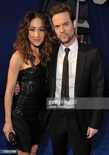 Actors Maggie Q and Shane West arrive at the 2011 People's Choice Awards at Nokia Theatre LA Live on January 5 2011 in Los Angeles California