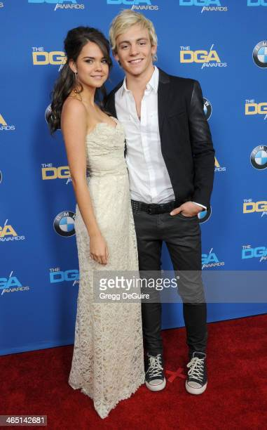 Actors Maia Mitchell and Ross Lynch arrive at the 66th Annual Directors Guild Of America Awards at the Hyatt Regency Century Plaza on January 25 2014...