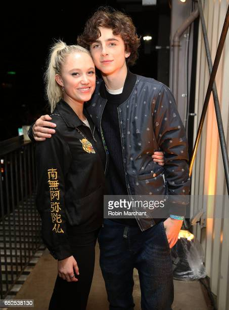 Actors Maika Monroe and Timothee Chalamet attend BuzzFeed and The CW's Riverdale Presents Pep Rally on March 11 2017 in Austin Texas