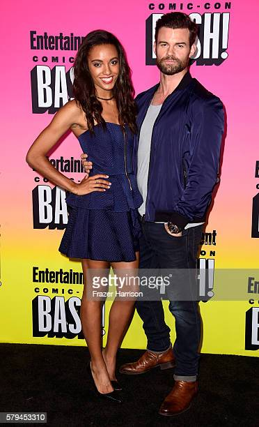 Actors Maisie RichardsonSellers and Daniel Gillies attend Entertainment Weekly's ComicCon Bash held at Float Hard Rock Hotel San Diego on July 23...