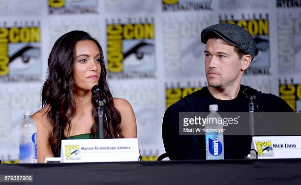 Actors Maisie RichardsonSellers and Nick Zano attend DC's 'Legends Of Tomorrow' Special Video Presentation and QA during ComicCon International 2016...