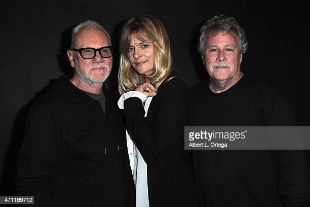 Actors Malcolm McDowell Nastassja Kinski and John Heard of 'Cat People' at The Hollywood Show held at the LAX Westin Hotel on April 25 2015 in Los...