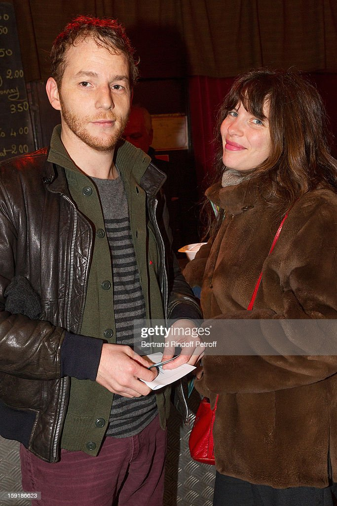 Actors Malik Zidi and Judith Davis attend the 'Menelas rebetiko rapsodie' premiere at Le Grand Parquet on January 9 2013 in Paris France