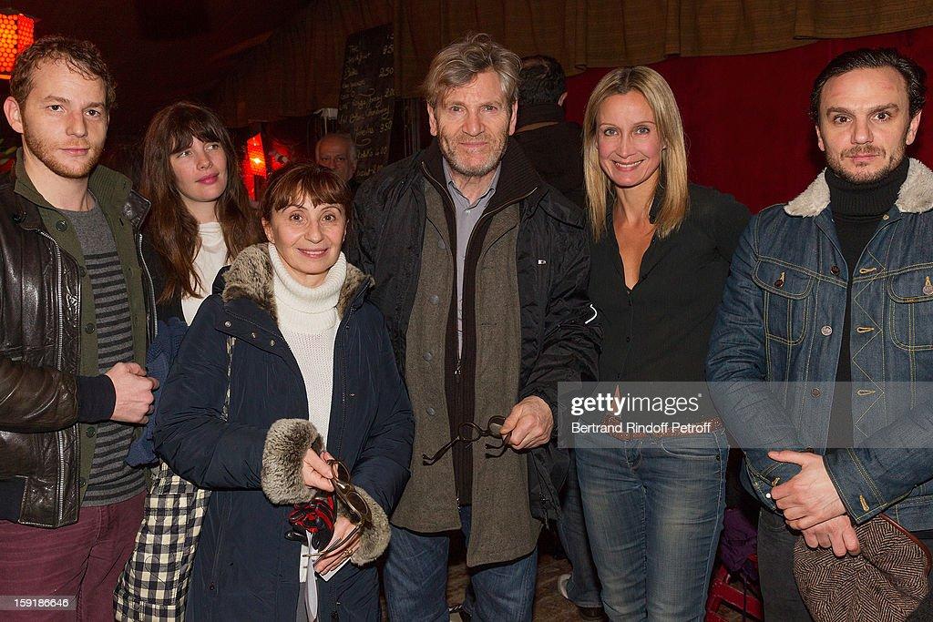 Actors Malik Zidi Judith Davis Ariane Ascaride Tcheky Karyo Catherine Marchal and Dimitri Storoge attend the 'Menelas rebetiko rapsodie' premiere at...