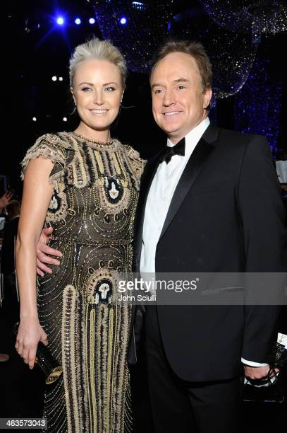 Actors Malin Akerman and Bradley Whitford attend the 20th Annual Screen Actors Guild Awards at The Shrine Auditorium on January 18 2014 in Los...