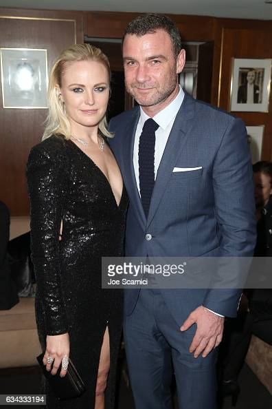 Actors Malin Akerman and Liev Schreiber attend Esquire's celebration of March cover star James Corden and the Mavericks of Hollywood presented by...