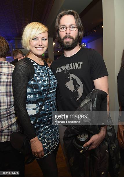 Actors Malin Akerman and Martin Starr attend 'I'll See You In My Dreams' cast party with Refinery29 at the GREY GOOSE Blue Door during Sundance on...