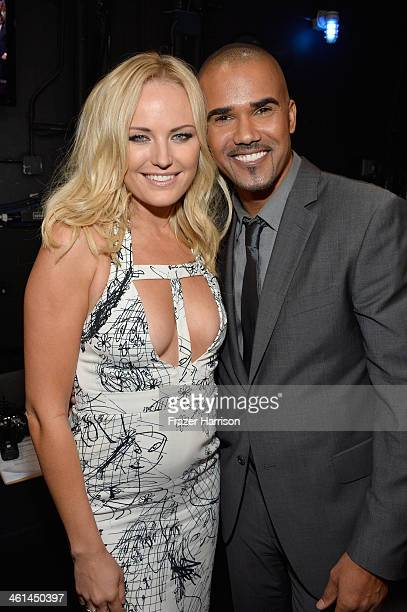 Actors Malin Akerman and Shemar Moore attend The 40th Annual People's Choice Awards at Nokia Theatre LA Live on January 8 2014 in Los Angeles...