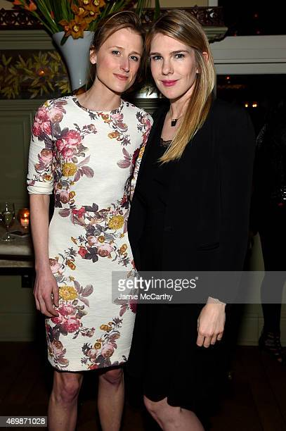 Actors Mamie Gummer and Lily Rabe attend the 2015 Tribeca Film Festival Opening Night After Party for 'Live from New York' presented by ATT at Tavern...