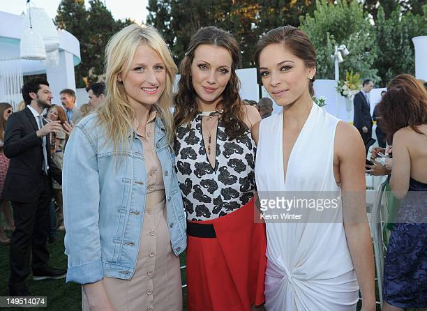 Actors Mamie Gummer Katie Cassidy and Kristin Kreuk attend the CW CBS and Showtime 2012 Summer TCA party held at The Beverly Hilton Hotel on July 29...