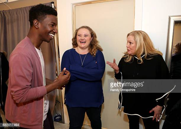 Actors Mamoudou Athie Danielle Macdonald and Cathy Moriarty attend ATT At The Lift during the 2017 Sundance Film Festival on January 22 2017 in Park...