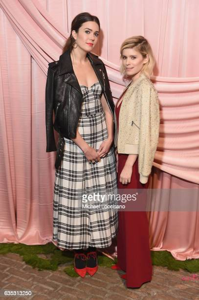 Actors Mandy Moore and Kate Mara attend the alice olivia by Stacey Bendet Fall 2017 Presentation at Highline Stages on February 14 2017 in New York...