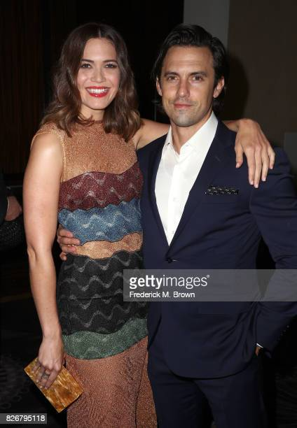 Actors Mandy Moore and Milo Ventimiglia at the 33rd Annual Television Critics Association Awards during the 2017 Summer TCA Tour at The Beverly...