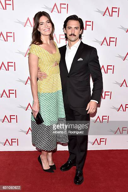 Actors Mandy Moore and Milo Ventimiglia attend the 17th annual AFI Awards at Four Seasons Los Angeles at Beverly Hills on January 6 2017 in Los...